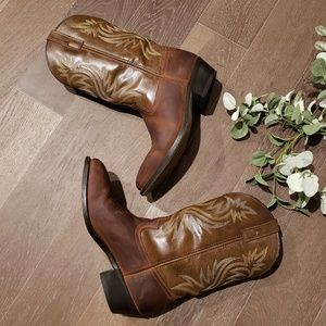 ⬇️Laredo Mens Leather Western Boots Size 10.5 D